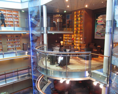 Library on the Celebrity Solstice
