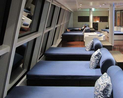 Sofas with a view on Celebrity Solstice
