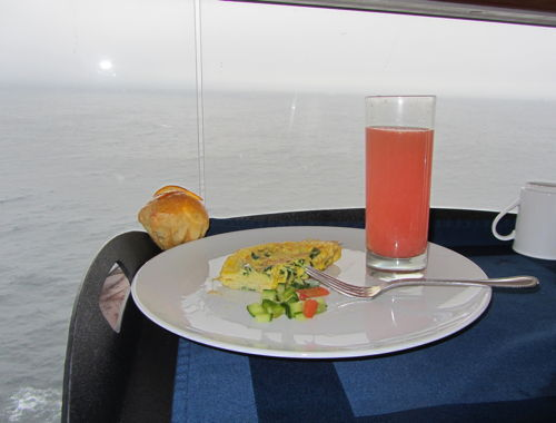 Room service on the Celebrity Solstice