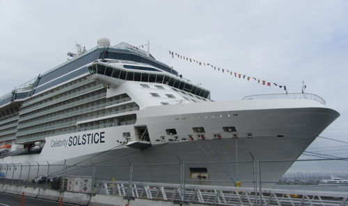 Celebrity Solstice at port