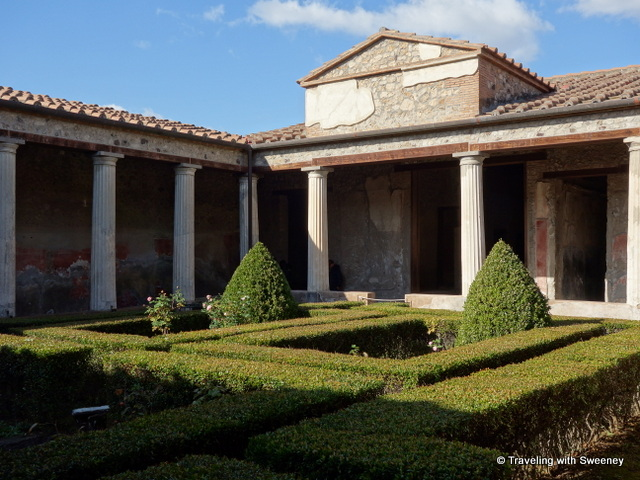 Day trip from Rome: Pompeii -- Garden courtyard of a Pompeii residence