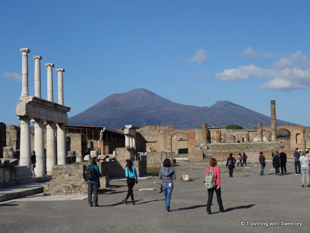 The forum of Pompeii, UNESCO World Heritage Site in Italy -- a day trip from Rome