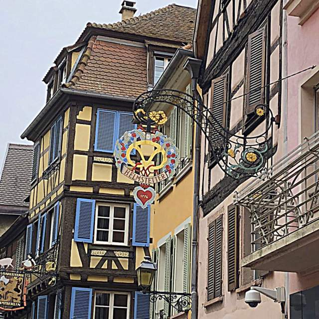 Stepping back among the colorful old buildings in time in Colmar, France