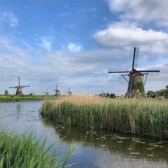 The windmills of Kinderdijk, a UNESCO World Heritage Site in the Netherlands