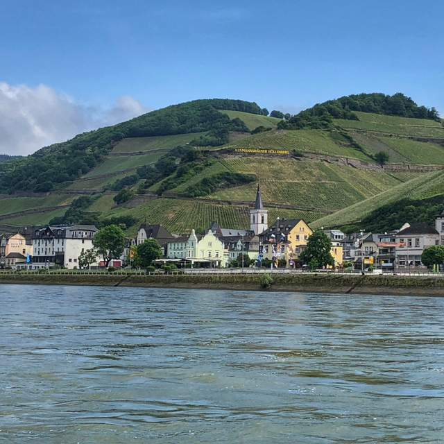 A picturesque town along the Rhine River in Germany during a Viking River Cruises Rhine Getaway cruise