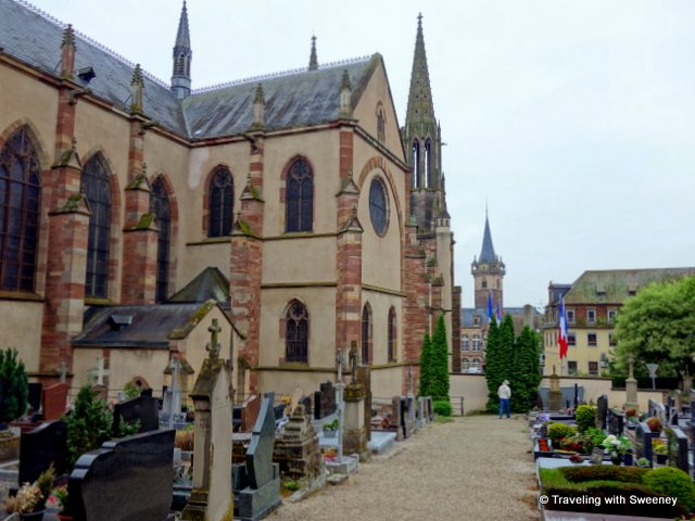 Church of Saints Pierre and Paul in Obernai, Alsace, France