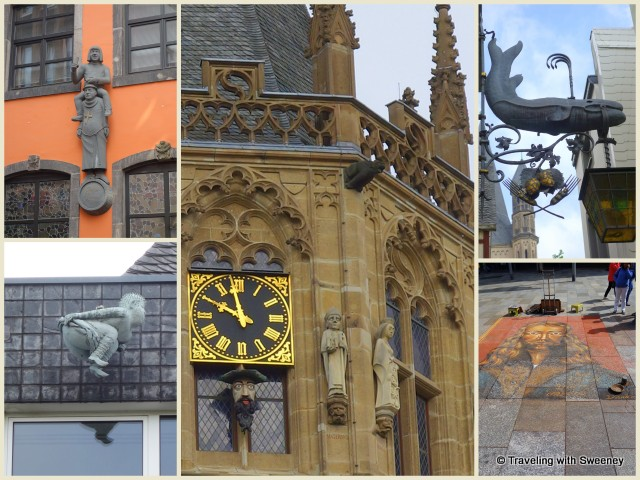 Street art, statues, and fun pieces of decor in Cologne, Germany