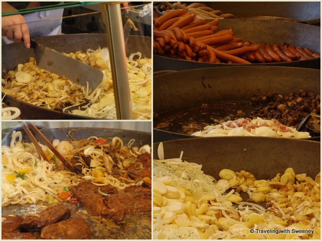 Mouth-watering dishes at Kolner Weinwoche in Cologne, Germany