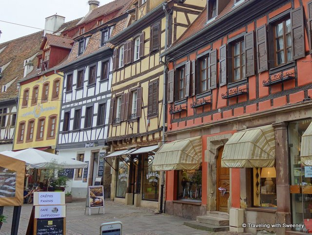 Colorful half-timbered houses of Obernai, Alsace, France