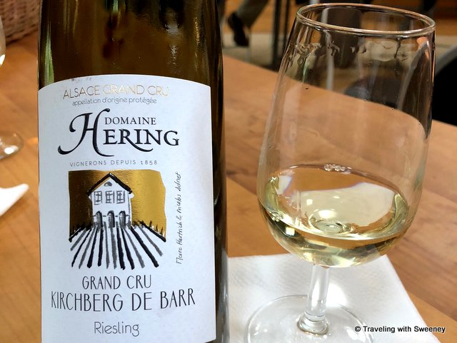 My favorite of the wines -- a crisp, dry Riesling at Domaine Hering in Barr, Alsace, France