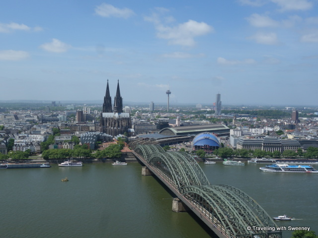 View of Cologne from the Kolner Triangle