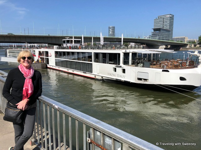 Viking Tialfi at port in Cologne, Germany during the Rhine Getaway cruise