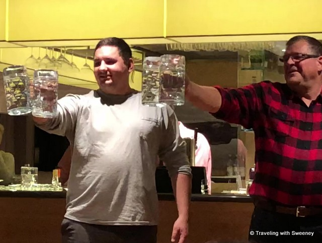 Stein-holding contest on the Viking Gullveig on the Romantic Danube cruise