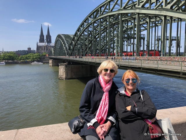 With Mary at the Hohenzollern Bridge in Cologne