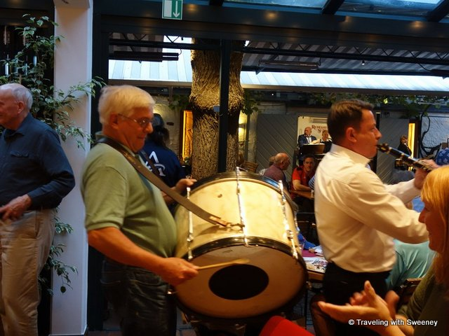 Musical fun in a restaurant in Rudesheim, Germany on the Viking Rhine Getaway cruise