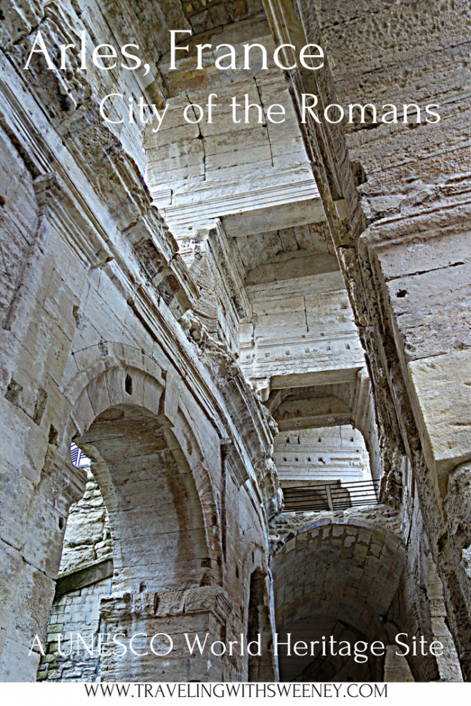 Inside the Arles Roman Amphitheater -- UNESCO World Heritage Site in Arles, France