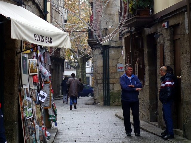 Elvis Bar -- modern culture in medieval Guimares, Portugal, a UNESCO World Heritage Site