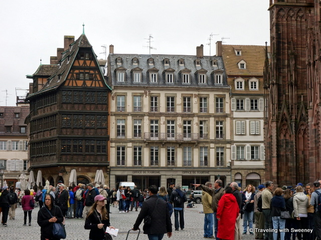 Place de la Cathedrale (Kammerzell House on the left), Strasbourg, France