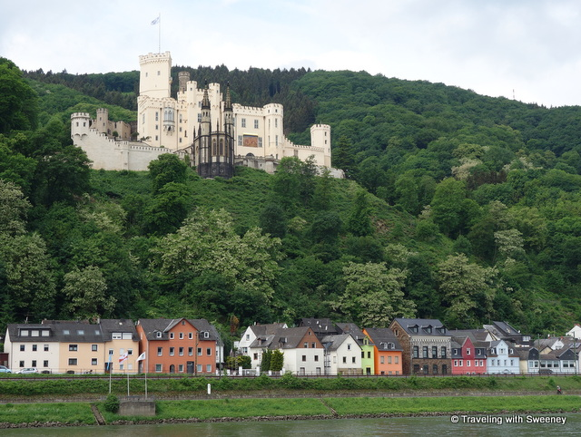 Stolzenfels Palace on the Upper Middle Rhine in Germany