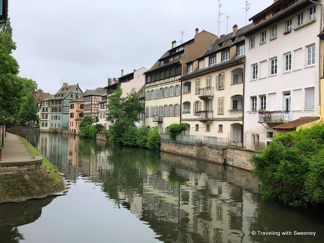 Pretty scene of Strasbourg's Petite France district --- Alsace region of France