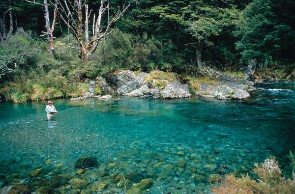 Fly fishing at Poronui Lodge, New Zealand