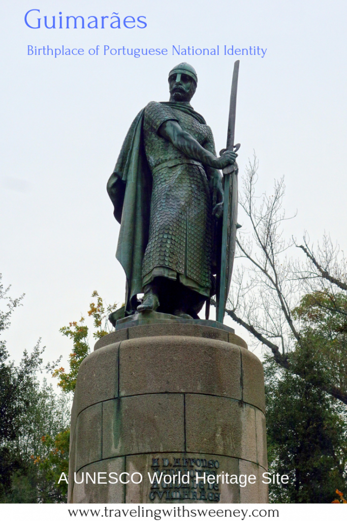 Statue of King Alfonso in Guimaraes, Portugal -- the first capital of Portugal and a UNESCO World Heritage Site