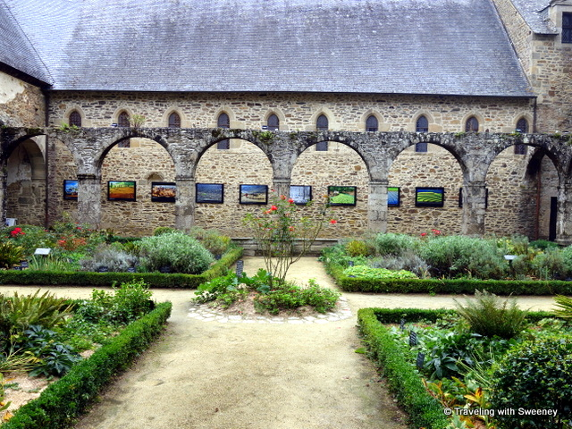 Cloister of the Abbey of Léhon in Léhon, France (iin the commune of Dinan)
