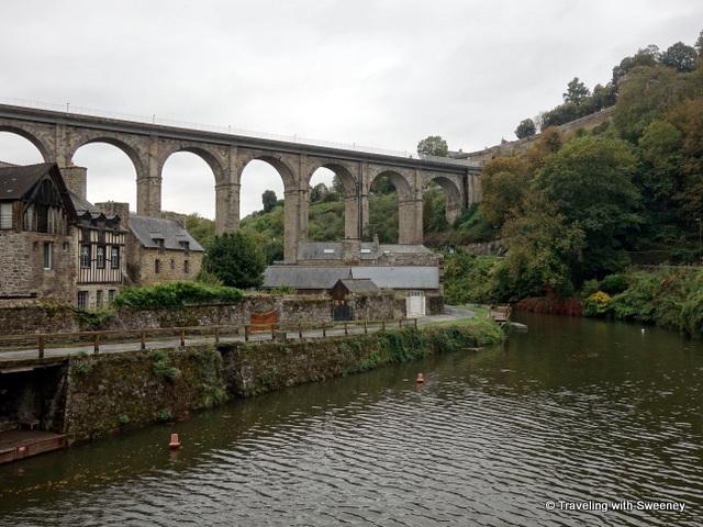 Viaduc de Dinan, the tall viaduct connecting Dinan and Lanvallay, France