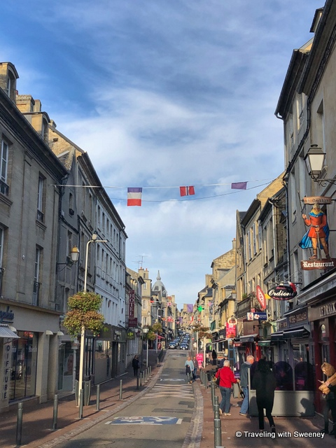 A quiet Saturday morning on Rue St. Jean in Bayeux, France