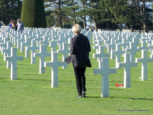 The American Cemetery at Omaha Beach, Colleville-sur-Mer in the Normandy region of France