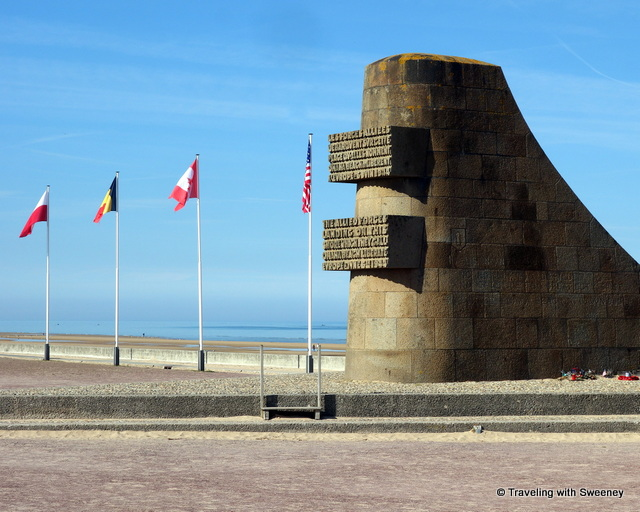 Omaha Monument to the Allies at Omaha Beach, Normandy, France