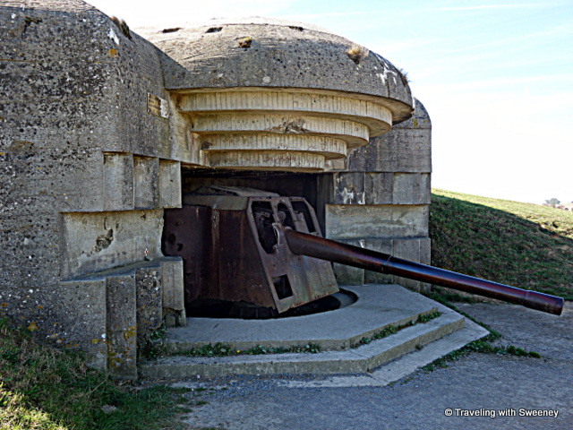German bunker at Longues-sur-Mer, Normandy, France