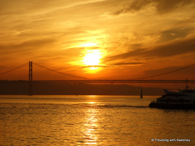 Sunset in Lisbon, Portugal