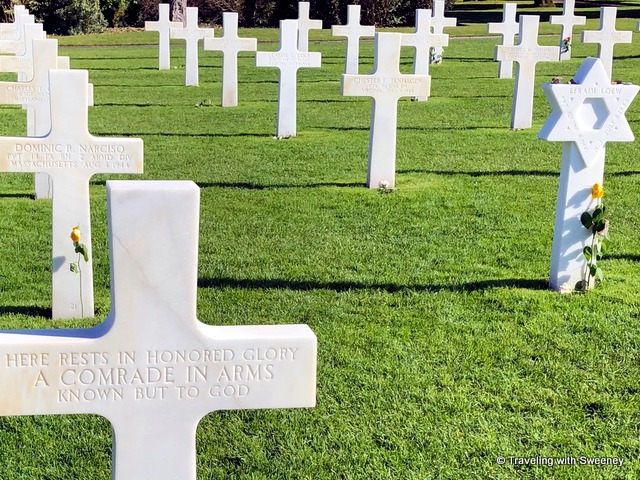 Gravestones at the American Cemetery in Normandy, France