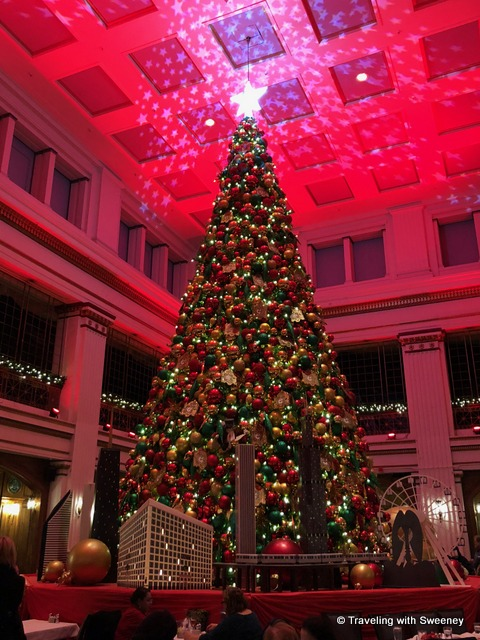 Christmas tree in the Walnut Room of Macy's on State Street, Chicago