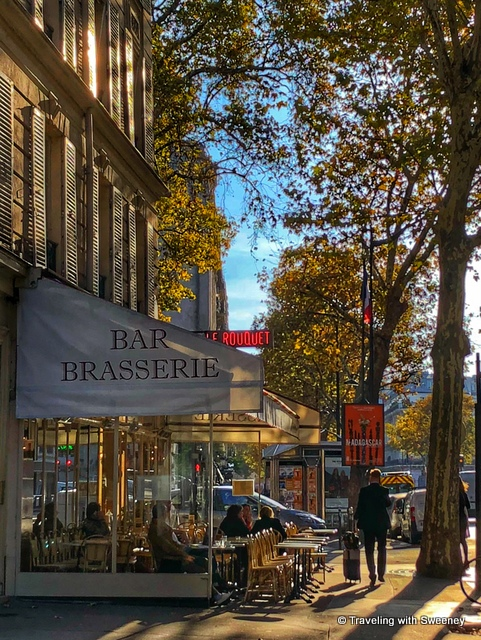Scene along Boulevard Saint-Germain, Paris, France