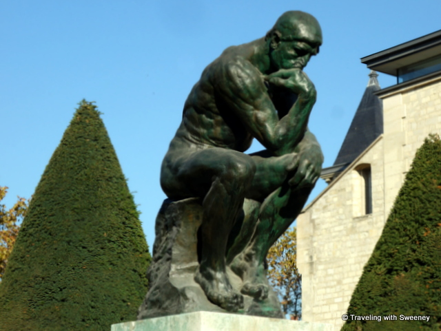 """The Thinker"" by Rodin at the Rodin Museum in Paris, France"
