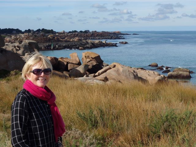 On the Pink Granite Coast of the Brittany region of France