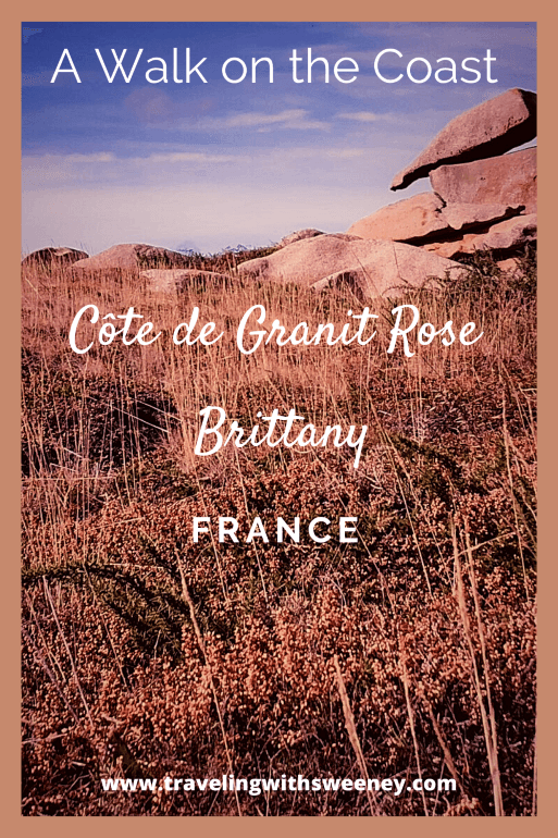 Rock formations on the Pink Granite Coast of Brittany region of France