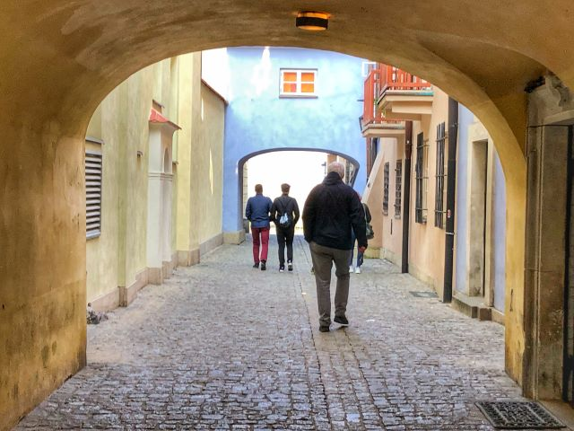 Exploring the streets of Old Town Warsaw, Poland