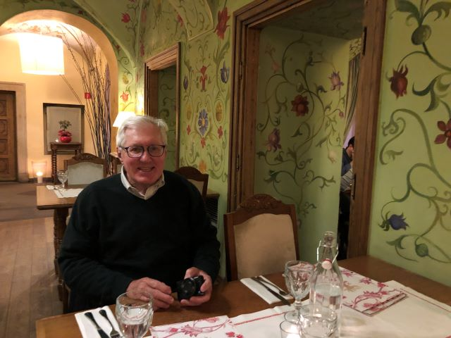 One of the cozy dining rooms of Restauracja Polka in Old Town Warsaw, Poland