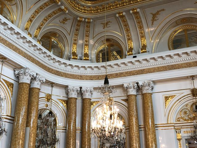 Opulent interior of Warsaw, Poland's Royal Castle in Old Town