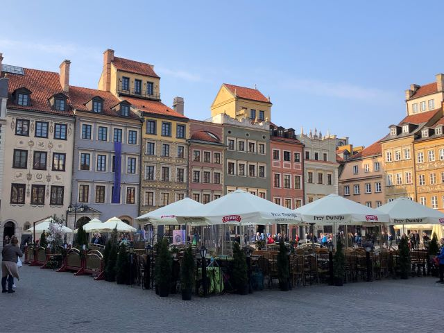 Main Square in Old Town Warsaw, Poland