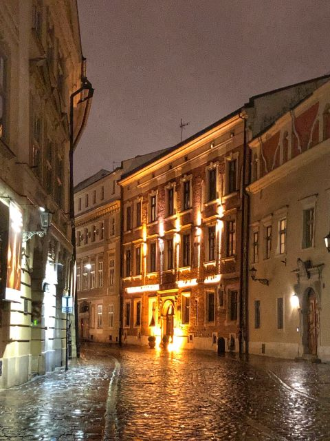 Picturesque Kanonicza Street at night -- Krakow, Poland