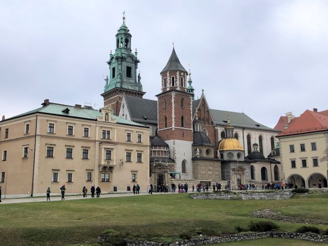 Wawel Cathedral atop Wawel Hill in Krakow, Poland
