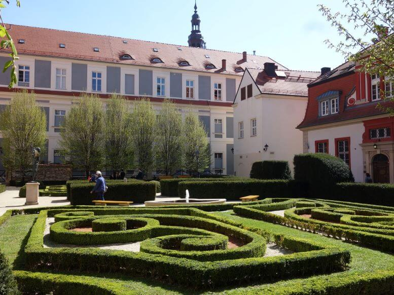 Courtyard of the Ossolineum Library at Wroclaw University, Wroclaw, Poland