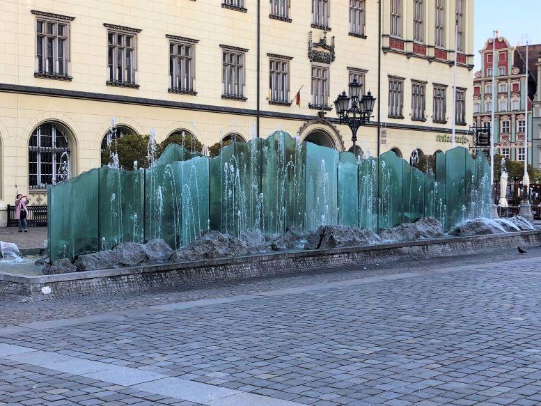 Zdrój Fountain in Rynek Glowny (Main Market Square) in Wroclaw, Poland