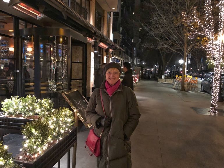 Catherine Sweeney dressed for winter in Chicago