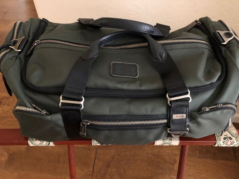 Medium-sized duffel bag for a variety of travel itineraries