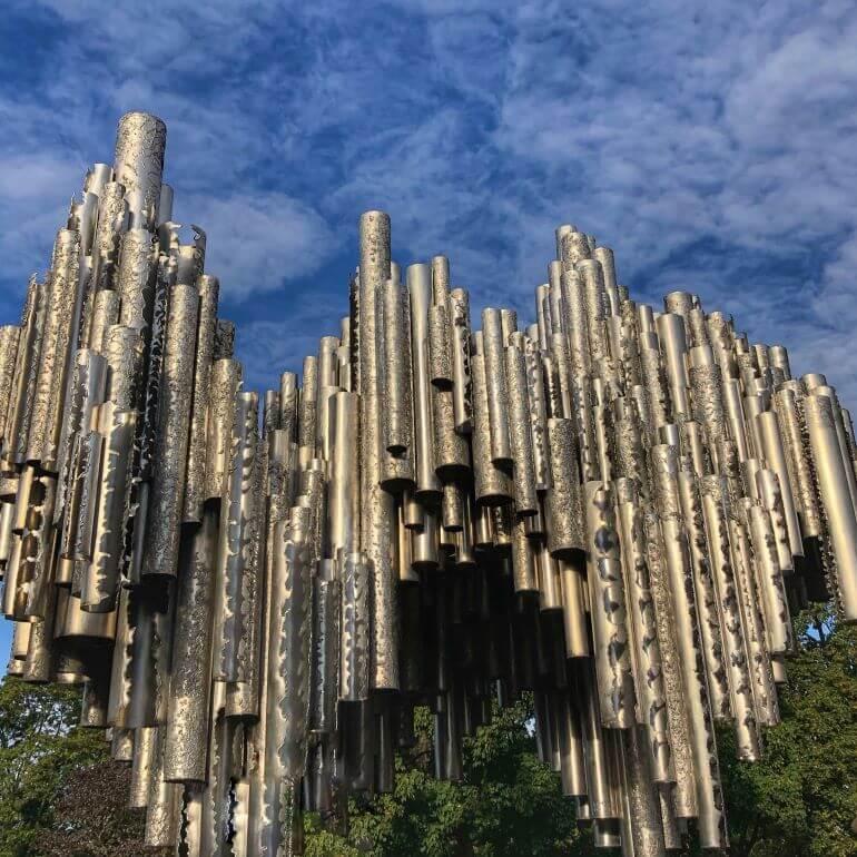 Sibelius monument in Helsinki, Finland